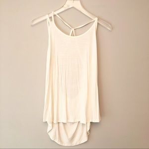 Boutique | Ivory strappy back tank top